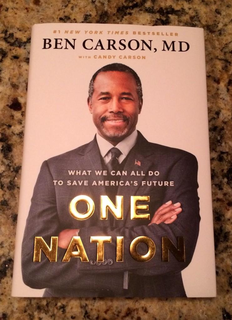 Autographed Ben Carson book