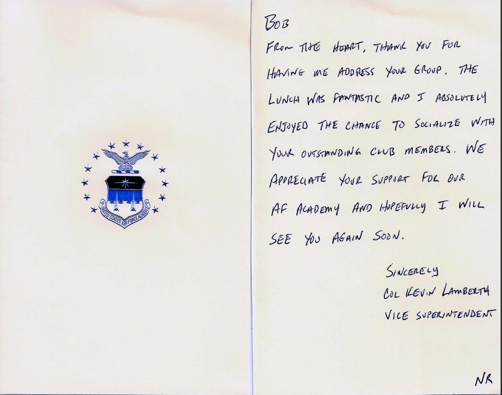20141113 Lamberth note to Club